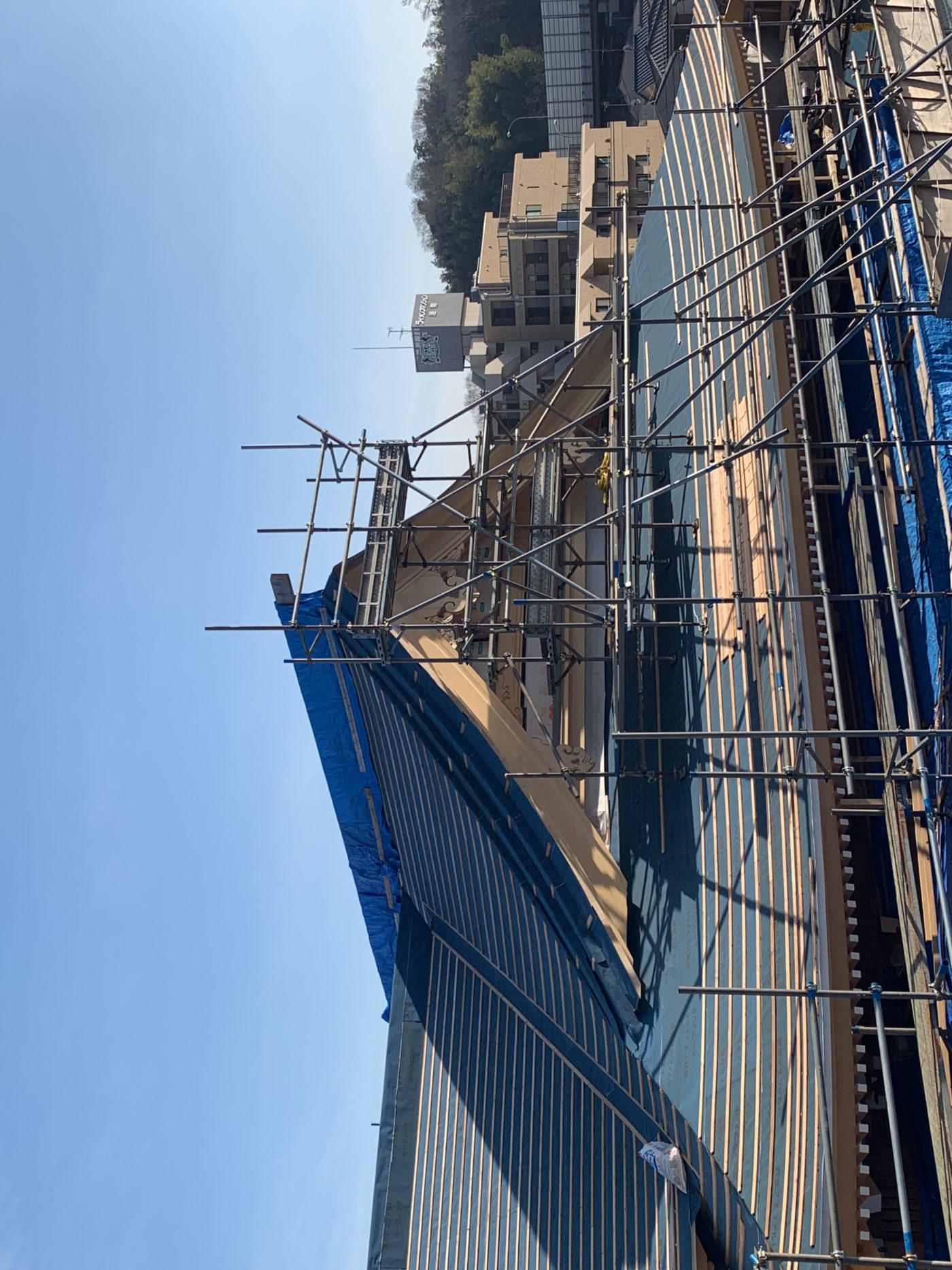 新本堂屋根(西側)
